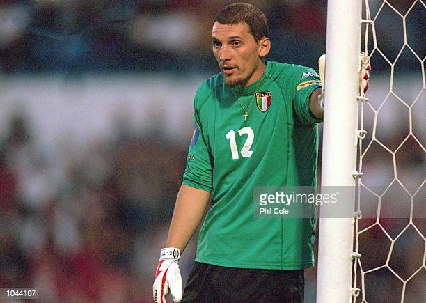 Christian Abbiati of Italy in action during the European Under 21's Championships Final against Czech Republic at the Slovan Stadium Bratislava...