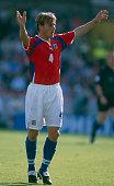 16 June 2000 EURO Championships Czech Republic v France Pavel Nedved of Czech Republic calls for the ball