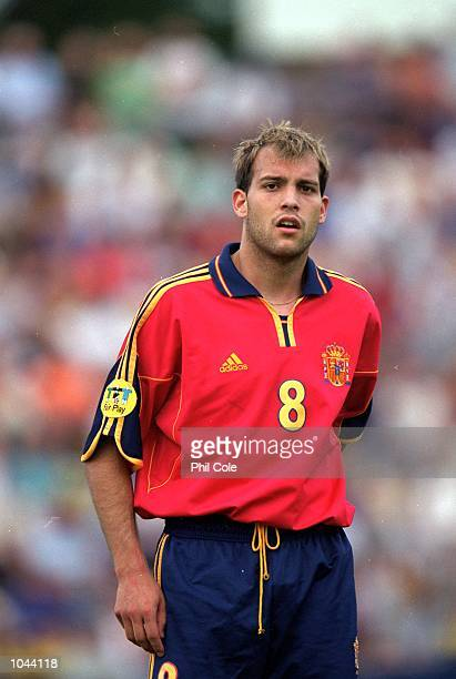 Gabri of Spain in action during the European Under 21's Championships 2000 against Slovakia at the Inter Stadium Bratislava SlovakiaSpain won 10...