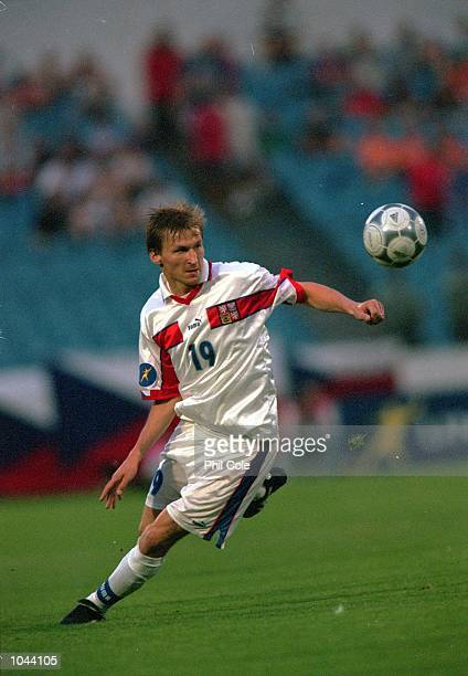Marek Heinz of Czech Republic in action during the European Under 21's Championships Final against Italy at the Slovan Stadium Bratislava Slovakia...