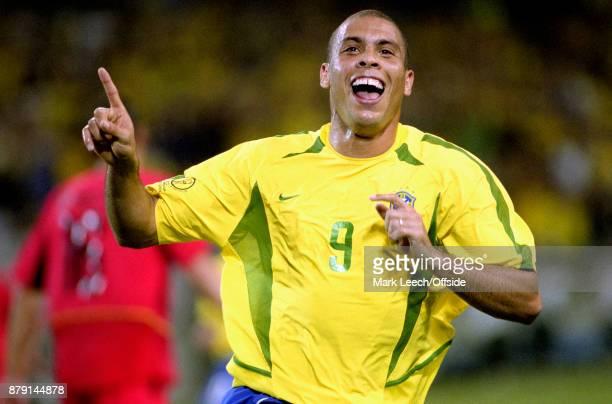 Brazil v Belgium FIFA World Cup Ronaldo celebrates after scoring a goal for Brazil
