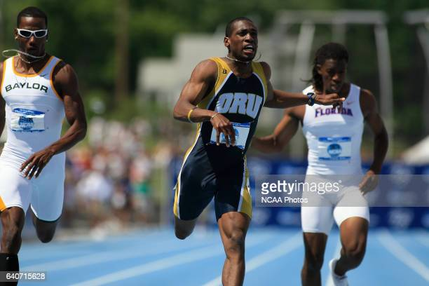 Andretti Bain from Oral Roberts center won the men's 400 meters at the NCAA Division 1 Men's and Women's Track Field Championships in Des Moines Iowa...