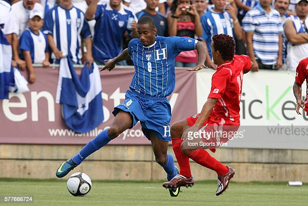 Allan Lalin and Amilcar Henriquez The Honduras Men's National Team played the Panama Men's National Team at the WakeMed Stadium in Cary North...