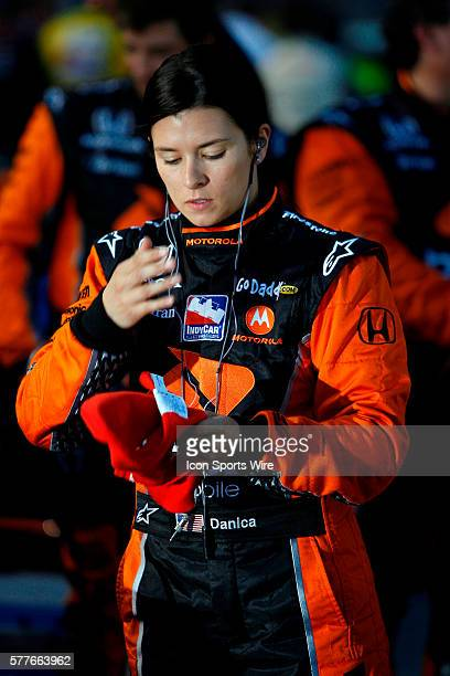 Danica Patrick gets ready to for the start of the INDY Series Bombardier LearJet 550K at the Texas Motor Speedway in Fort Worth Texas