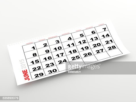 June 2015 calendar : Stock Photo