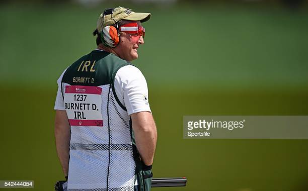 17 June 2015 Derek Burnett Ireland after missing the final target during Qualification Day 2 of the Men's Trap Shooting event 2015 European Games...