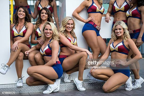The Cavaliers Girls participate in Cavs Fan Fest outside Quicken Loans Arena prior to Game 4 of the NBA Finals between the Golden State Warriors and...
