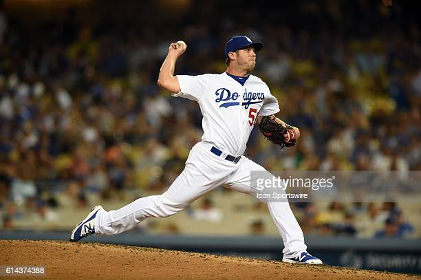 Los Angeles Dodgers Pitcher Casey Fien [9006] during a Major League Baseball game between the Milwaukee Brewers and the Los Angeles Dodgers at Dodger...