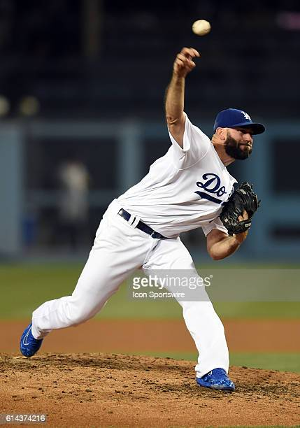 Los Angeles Dodgers Pitcher Chris Hatcher [6729] during a Major League Baseball game between the Milwaukee Brewers and the Los Angeles Dodgers at...