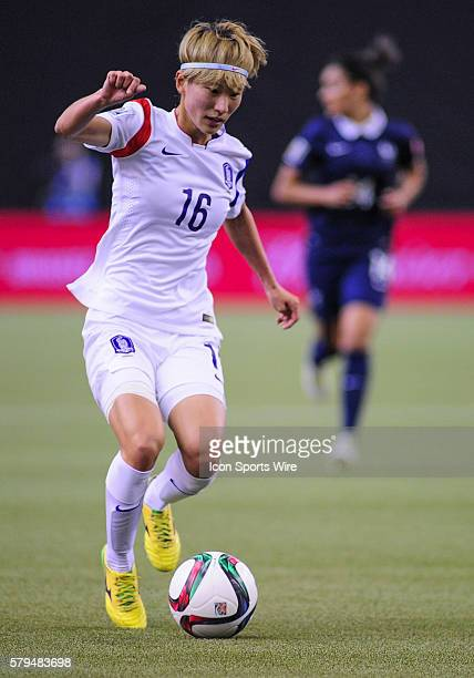 Kang Yumi of Korea Republicduring the FIFA 2015 Women's World Cup Round of 16 match between France and Korea at the Olympic Stadium in Montreal...