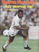 June 23 1975 Sports Illustrated Cover NASL Soccer New York Cosmos Pele in action vs Dallas Tornado at Downing Stadium New York NY 6/15/1975