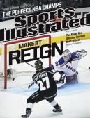 Hockey NHL Finals New York Rangers goalie Henrik Lundqvist in action yielding game winning goal vs Los Angeles Kings Alec Martinez during 2nd...