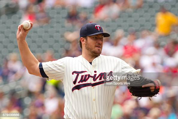 Minnesota Twins Starting pitcher Phil Hughes [5020] earns his 6th win The Twins beat the Chicago White Sox 61 at Target Field in Minneapolis MN