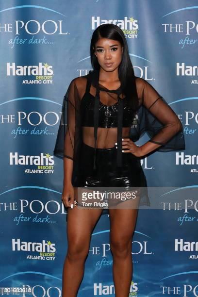 Mila J attends The Pool After Dark at Harrah's Resort on Saturday June 25 2017 in Atlantic City New Jersey