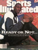 High School Basketball NBA Draft Casual portrait of Farragut Career Academy Kevin Garnett sitting outside of school Chicago IL 11/4/1994 CREDIT David...