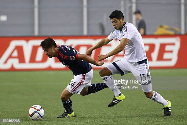 New England Revolution midfielder Lee Nguyen escapes from Vancouver Whitecaps midfielder Matias Laba The Vancouver Whitecaps defeated the New England...