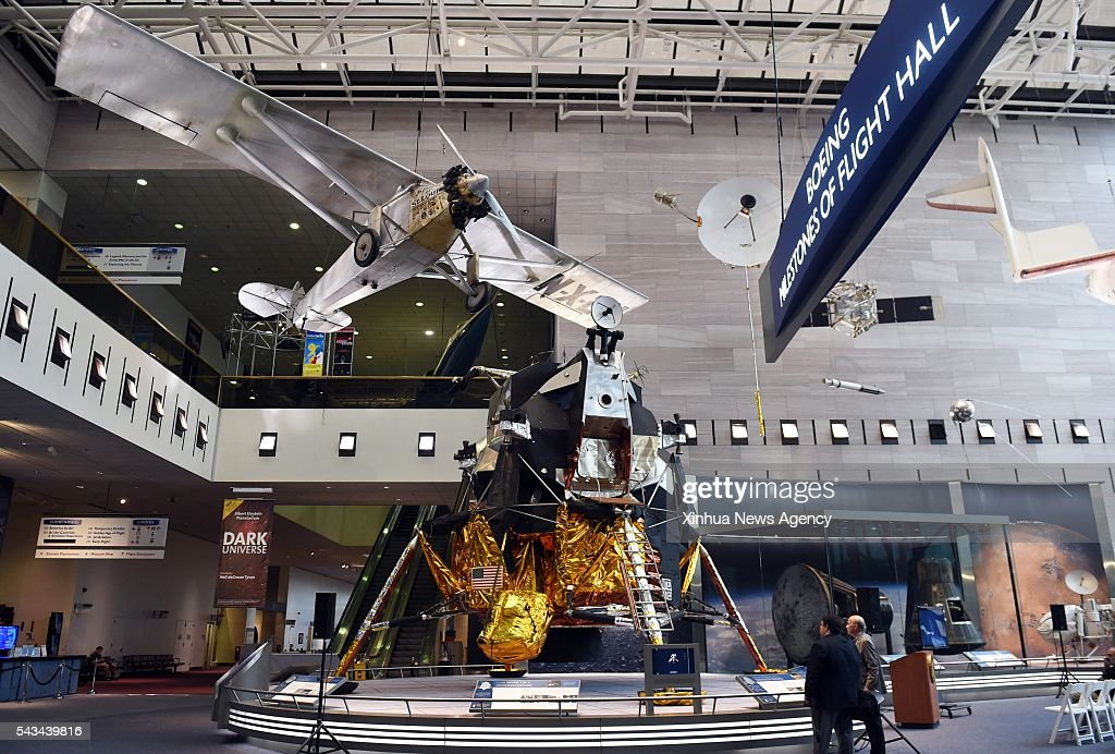 C., June 28, 2016 (Xinhua) --A press preview for the re-opening of the 'Boeing Milestones of Flight Hall' is held at the National Air and Space Museum in Washington D.C., the United States, on June 28, 2016. The National Air and Space Museum will reopen the 'Boeing Milestones of Flight Hall' on July 1, coinciding with the museum's 40th anniversary.