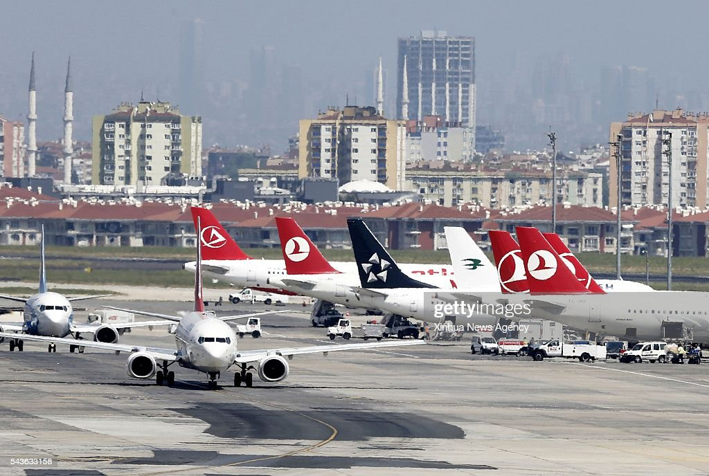 ISTANBUL, June 28, 2016 -- File photo taken on Feb. 1, 2016 shows the Ataturk Airport in Istanbul, Turkey. Two explosions hit the Ataturk Airport in Istanbul on Tuesday evening, with gunfire heard and injuries reported, CNNTurk said.