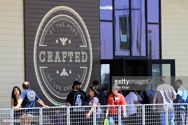 SAN PEDRO CA June 29 2012 ––– Visitors on the opening day June 29 of Crafted at the Port of Los Angeles in San Pedro