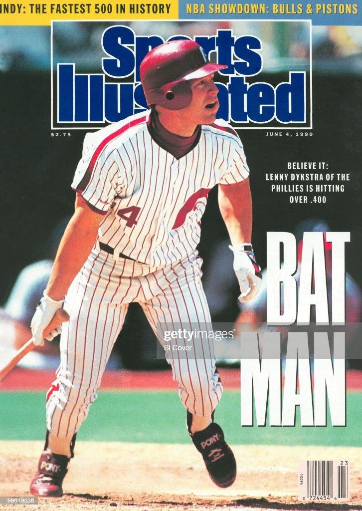 Baseball Philadelphia Phillies Lenny Dykstra in action at bat vs Atlanta Braves Philadelphia PA 5/24/19905/27/1990 CREDIT John Iacono
