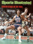 June 7 1976 Sports Illustrated Cover Basketball NBA Finals Phoenix Suns Alvan Adams in action boxing out vs Boston Celtics Dave Cowens Boston MA...