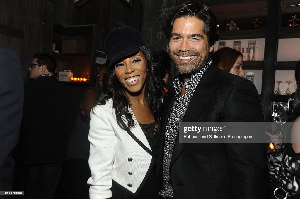 June Ambrose and Brian Atwood attends the Destination Iman Website Launch Party at Dream Downtown on September 7, 2012 in New York City.
