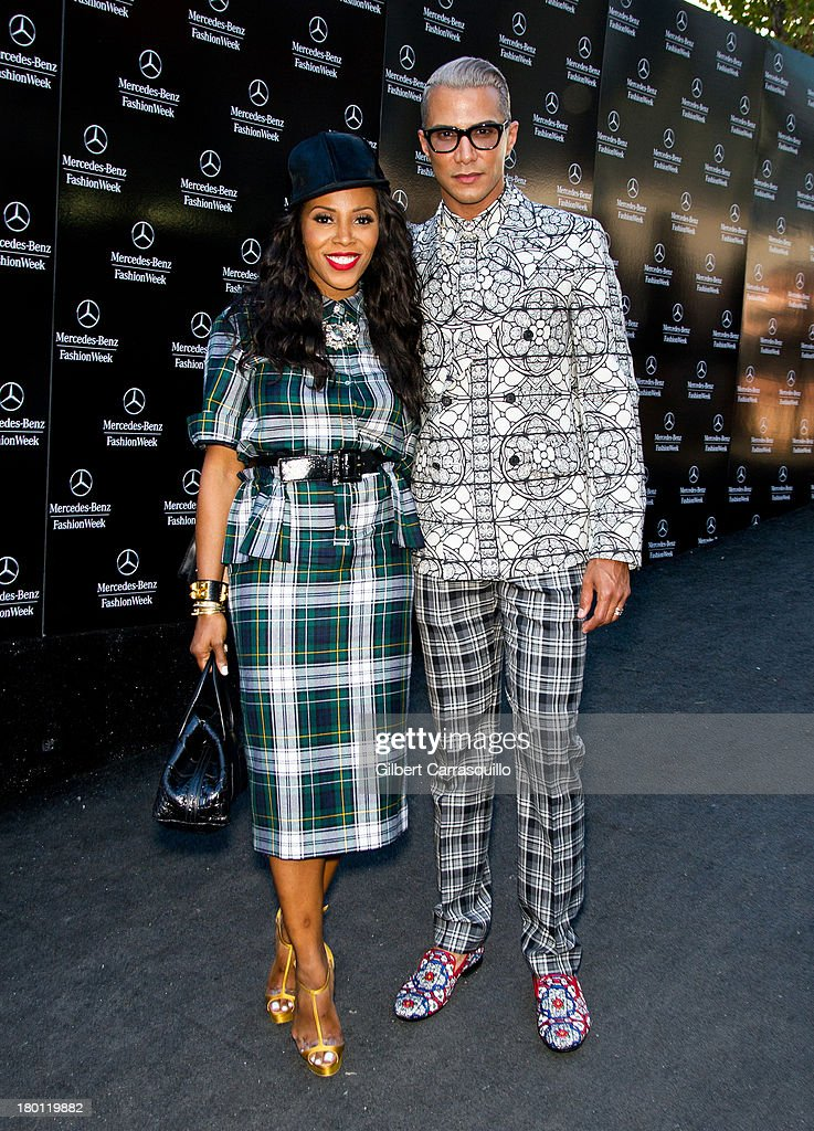 June Ambrose and Jay Emanuel attend 2014 Mercedes-Benz Fashion Week during day 4 on September 8, 2013 in New York City.