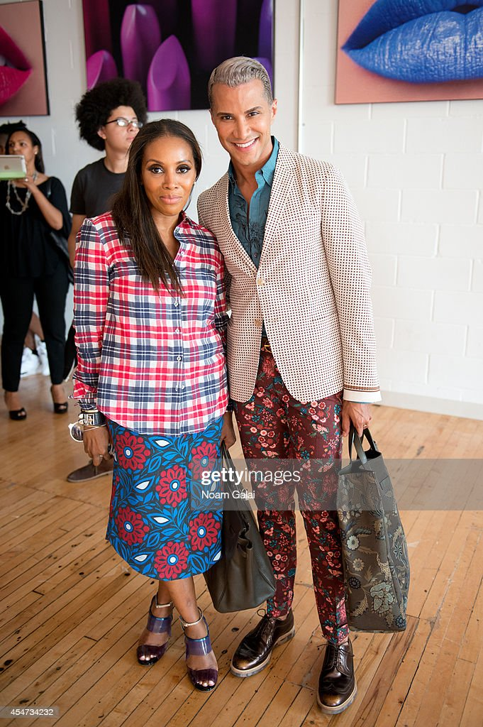 June Ambrose and Jay Manuel attend the 531 Jerome Presentation as part of the MercedesBenz Fashion Week on September 5 2014 in New York City