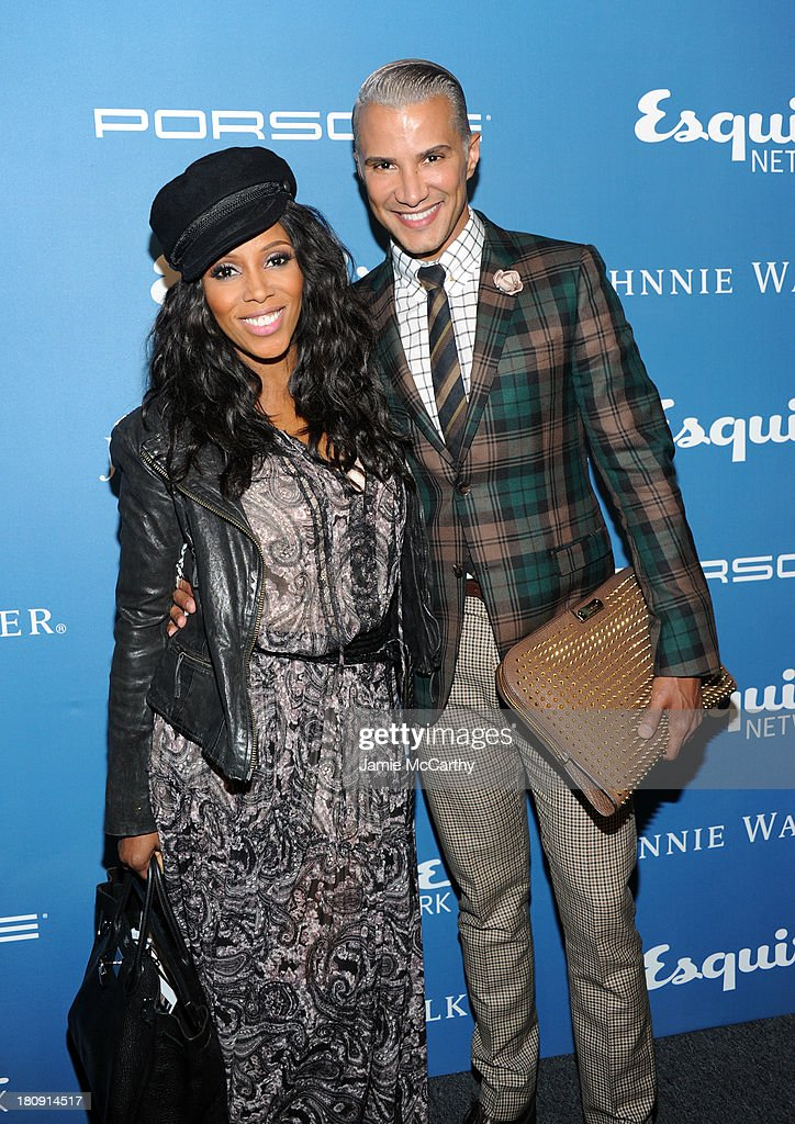 June Ambrose (L) and Jay Manuel attend the Esquire 80th anniversary and Esquire Network launch celebration at Highline Stages on September 17, 2013 in New York City.