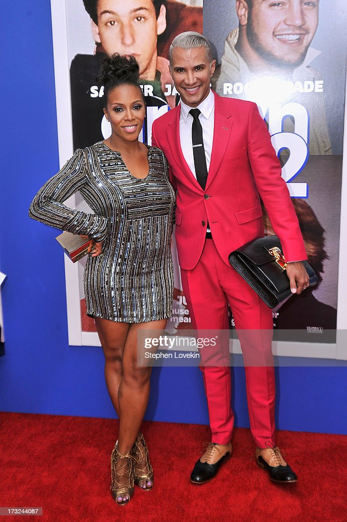 June Ambrose (L) and Jay Manuel attend the 'Grown Ups 2' New York Premiere at AMC Lincoln Square Theater on July 10, 2013 in New York City.