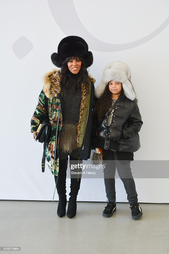 June Ambrose and Summer Chamblin attend J. Crew Presentation Fall 2016 at Spring Studios on February 14, 2016 in New York City.