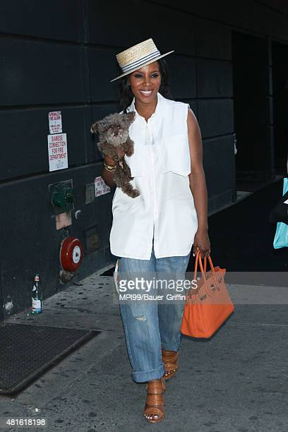 June Ambrose at the Jennifer Hudson Soho Jeans launch event on July 22 2015 in New York City