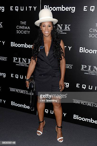 June Ambrose attends a Screening of Sony Pictures Classics' 'Equity' hosted by The Cinema Society with Bloomberg Thomas Pink at TBD on July 26 2016...