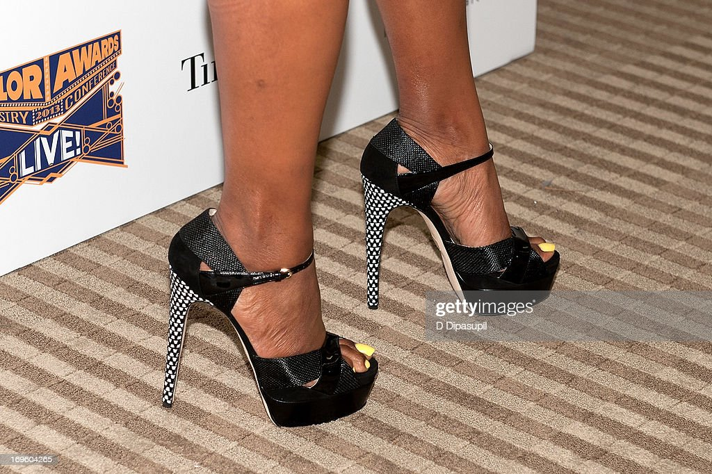 June Ambrose (shoe detail) attends Adcolor Live 2013! at Time Warner Theater on May 28, 2013 in New York City.