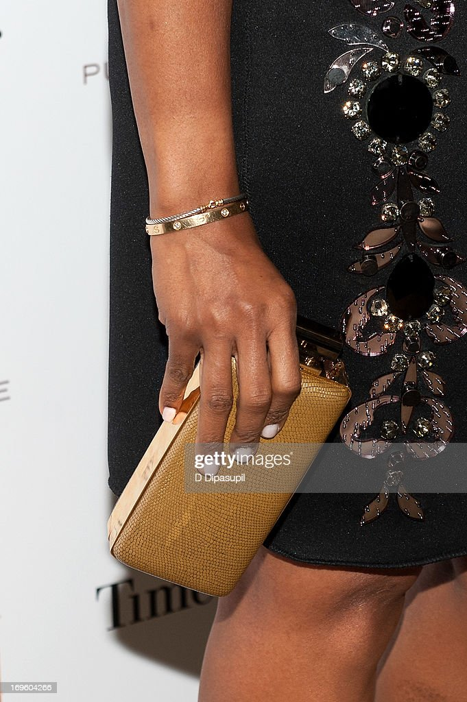 <a gi-track='captionPersonalityLinkClicked' href=/galleries/search?phrase=June+Ambrose&family=editorial&specificpeople=619410 ng-click='$event.stopPropagation()'>June Ambrose</a> (bracelet detail/clutch detail) attends Adcolor Live 2013! at Time Warner Theater on May 28, 2013 in New York City.