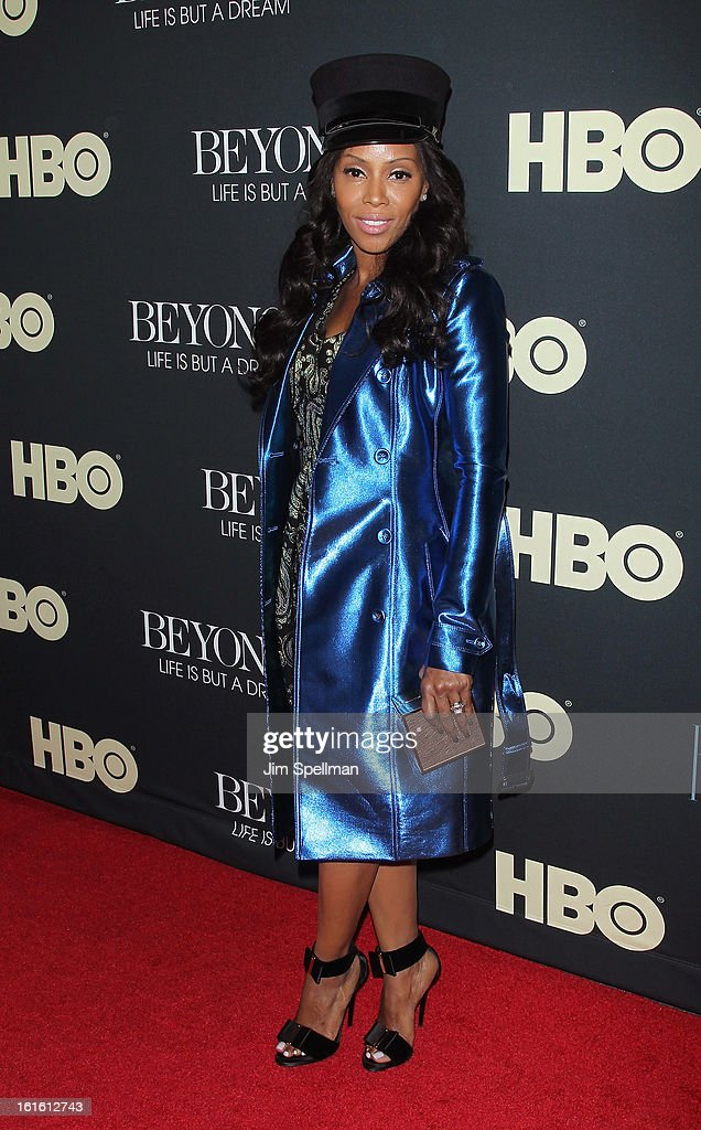 June Ambrose attends 'Beyonce: Life Is But A Dream' New York Premiere at Ziegfeld Theater on February 12, 2013 in New York City.