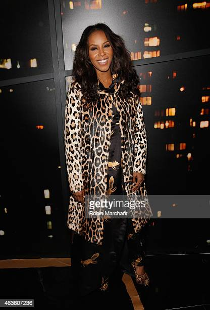 June Ambrose attends Donna Karan New York Runway on February 16 2015 in New York City
