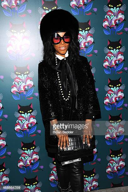 June Ambrose attends Miu Miu Women's Tales 7th Edition 'Spark Light' Screening Arrivals at Diamond Horseshoe on February 11 2014 in New York City