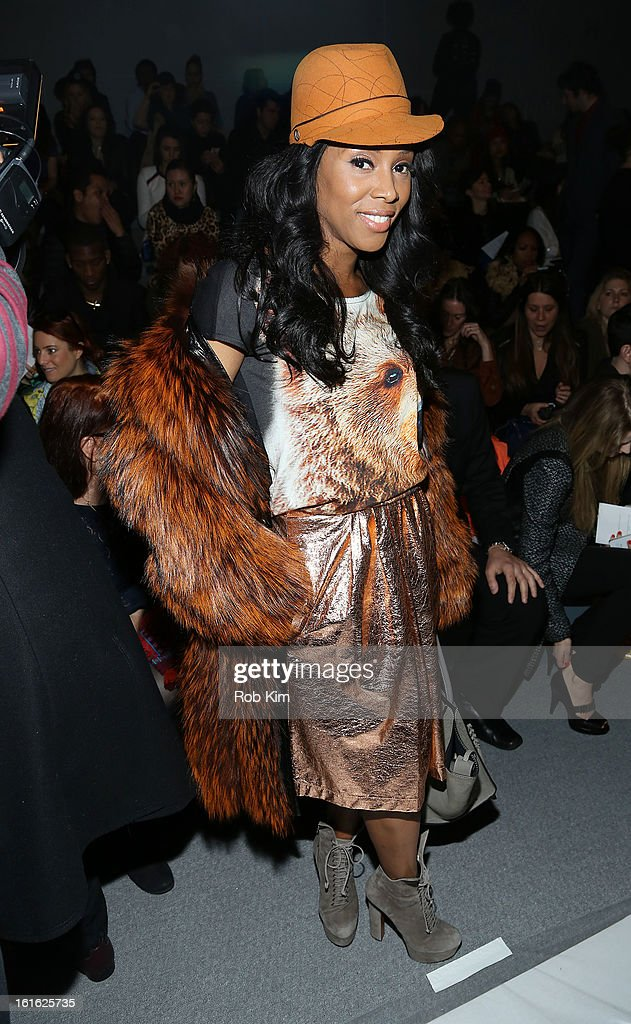 June Ambrose attends Nanette Lepore during Fall 2013 Mercedes-Benz Fashion Week at The Stage at Lincoln Center on February 13, 2013 in New York City.