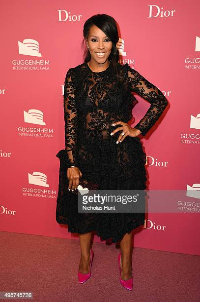 June Ambrose attends the 2015 Guggenheim International Gala PreParty made possible by Dior at Solomon R Guggenheim Museum on November 4 2015 in New...