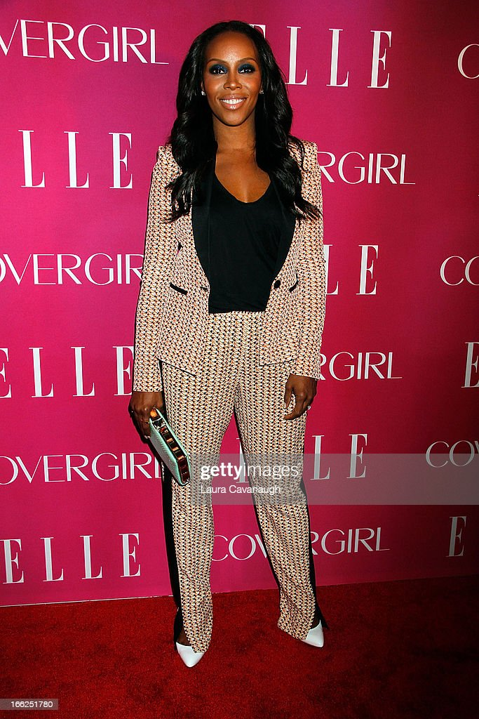 June Ambrose attends the 4th annual ELLE Women in Music Celebration at The Edison Ballroom on April 10, 2013 in New York City.