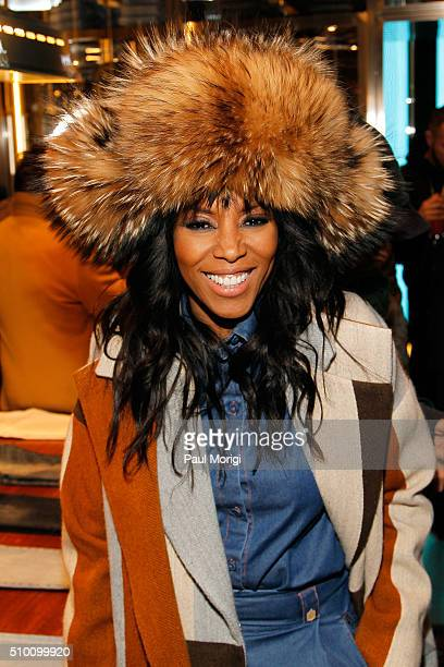 June Ambrose attends the after party celebrating DIESEL's Madison Avenue flagship on February 13 2016 in New York City