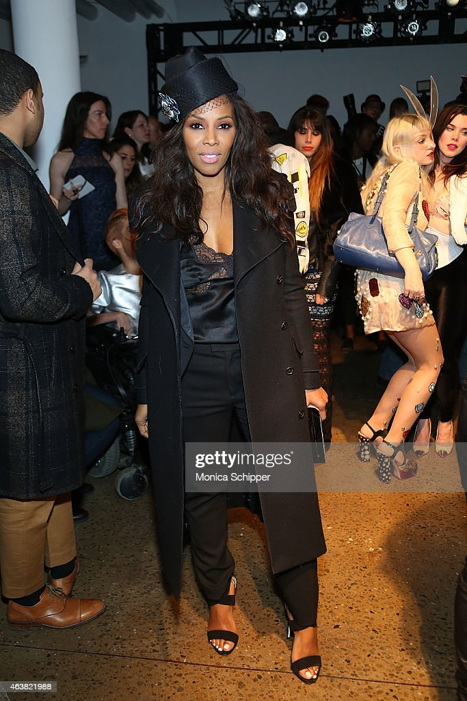 June Ambrose attends The Blonds fashion show during MADE Fashion Week Fall 2015 at Milk Studios on February 18, 2015 in New York City.