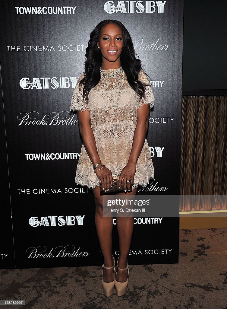 June Ambrose attends the Brooks Brothers and Town & Country with The Cinema Society screening of 'The Great Gatsby' at HBO Screening Room on May 7, 2013 in New York City.