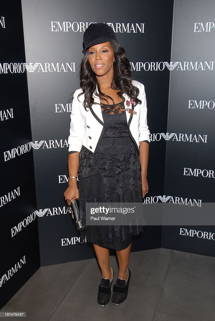 June Ambrose attends the Emporio Armani New York Flagship Store Opening on September 7 2012 in New York City