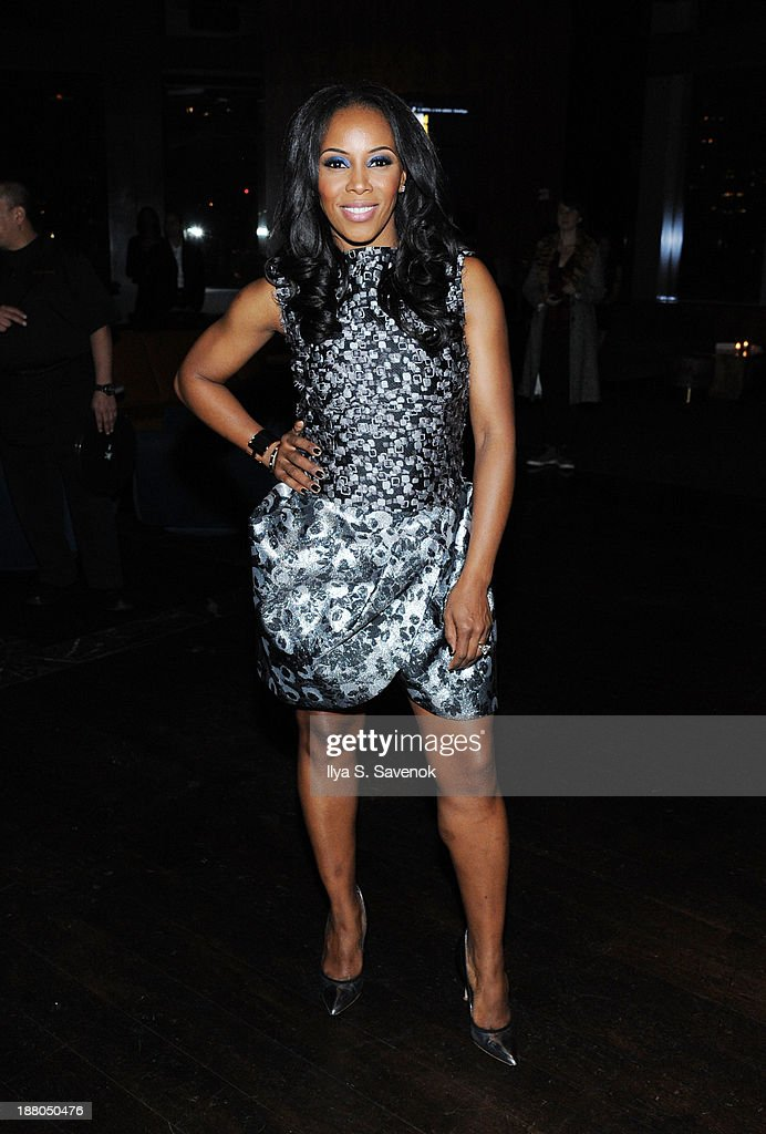 June Ambrose attends the New York premiere of 'Mandela: Long Walk To Freedom' hosted by The Weinstein Company, Yucaipa Films and Videovision Entertainment, supported by Mercedes-Benz, South African Airways and DeLeon Tequila at Stone Rose Lounge on November 14, 2013 in New York City.