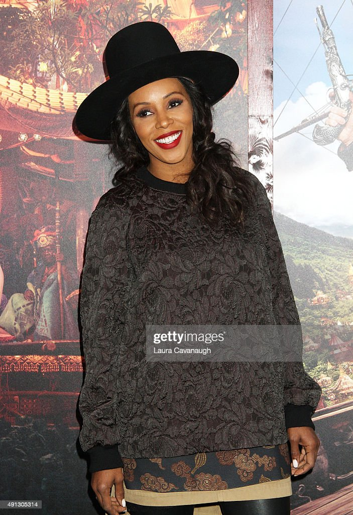 June Ambrose attends the 'Pan' New York Premiere - Outside Arrivals at Ziegfeld Theater on October 4, 2015 in New York City.