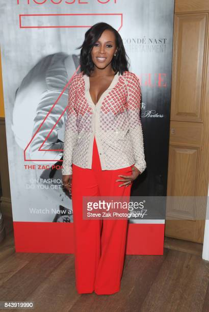 June Ambrose attends the premiere of 'House Of Z' hosted by Brooks Brothers with The Cinema Society at Crosby Street Hotel on September 7 2017 in New...
