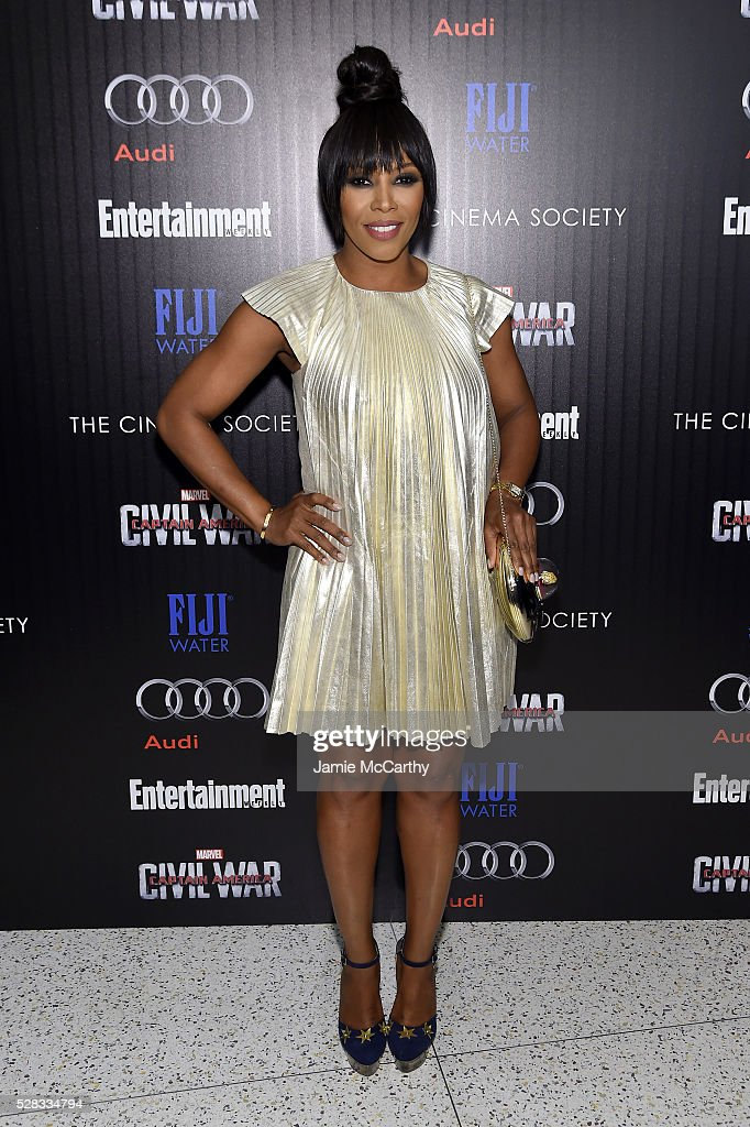 <a gi-track='captionPersonalityLinkClicked' href=/galleries/search?phrase=June+Ambrose&family=editorial&specificpeople=619410 ng-click='$event.stopPropagation()'>June Ambrose</a> attends the screening Of Marvel's 'Captain America: Civil War' hosted by The Cinema Society with Audi & FIJI at Henry R. Luce Auditorium at Brookfield Place on May 4, 2016 in New York City.