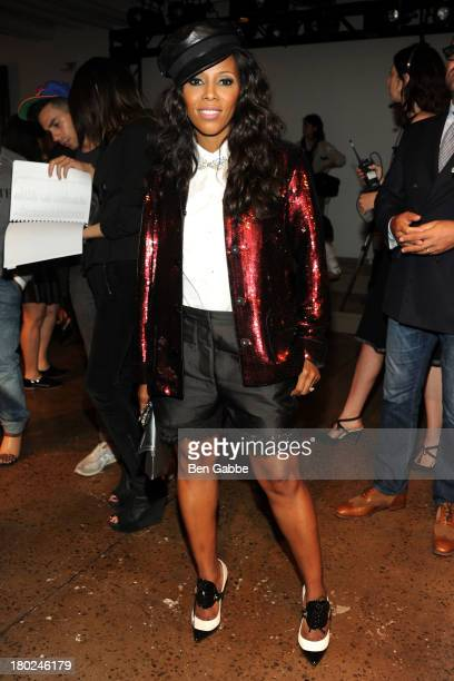 June Ambrose attends the Sophie Theallet fashion show during MADE Fashion Week Spring 2014 at Milk Studios on September 10 2013 in New York City